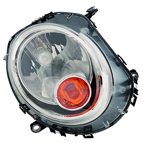 Fits Mini Cooper Clubman R55 2008-13/Cooper Coupe R58/Cooper Roadster R59 2012-13/Cooper/Cooper S CONV 2009-13 Headlight Assembly Yellow Indicator Passenger Side (NSF Certified) MC2503105N