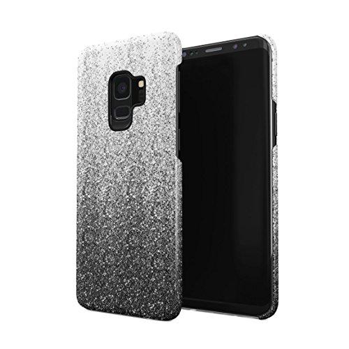 Black Ombre Paint Splash Hard Plastic Phone Case for Samsung Galaxy S9