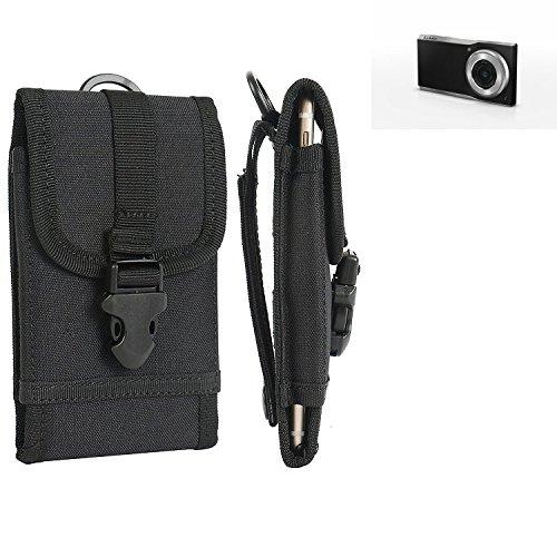 bolsa del cinturón / funda para Panasonic Lumix Smart Camera CM1, negro | caja del teléfono cubierta protectora bolso - K-S-Trade (TM)