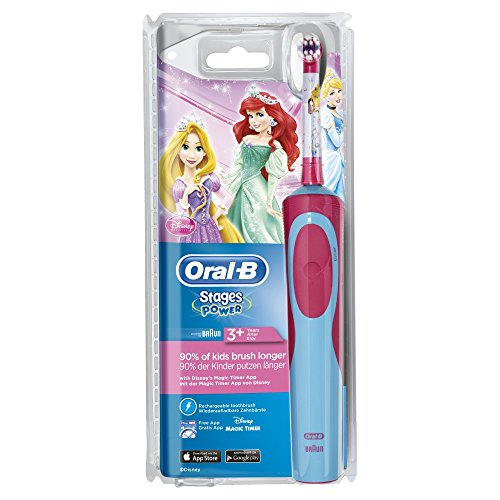 Oral-B Stages Power elektrische Zahnbürste für Kinder (Motiv Disney-Prinzessinnen)