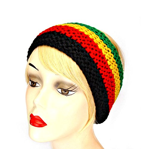 Red, Gold, Black & Green Knit - Gold Red Band Green