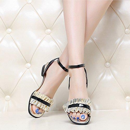 Mujer Sandalias Casual Vacaciones Playa Moda de Zapatos QIMAOO Sandalia Verano Planos dRgqFwPR