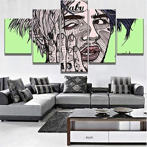 NATVVA Modular 5 Piece Canvas Art Poster Modern Decorative Paintings on Canvas Wall Art