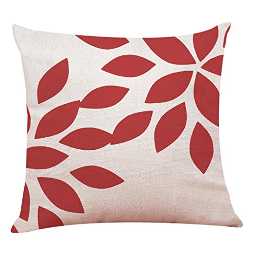 Clearance Pillow Case,Red Geometric Pillow Cover Sofa Throw Cushion Cover Home Decor Cushion Case (D)
