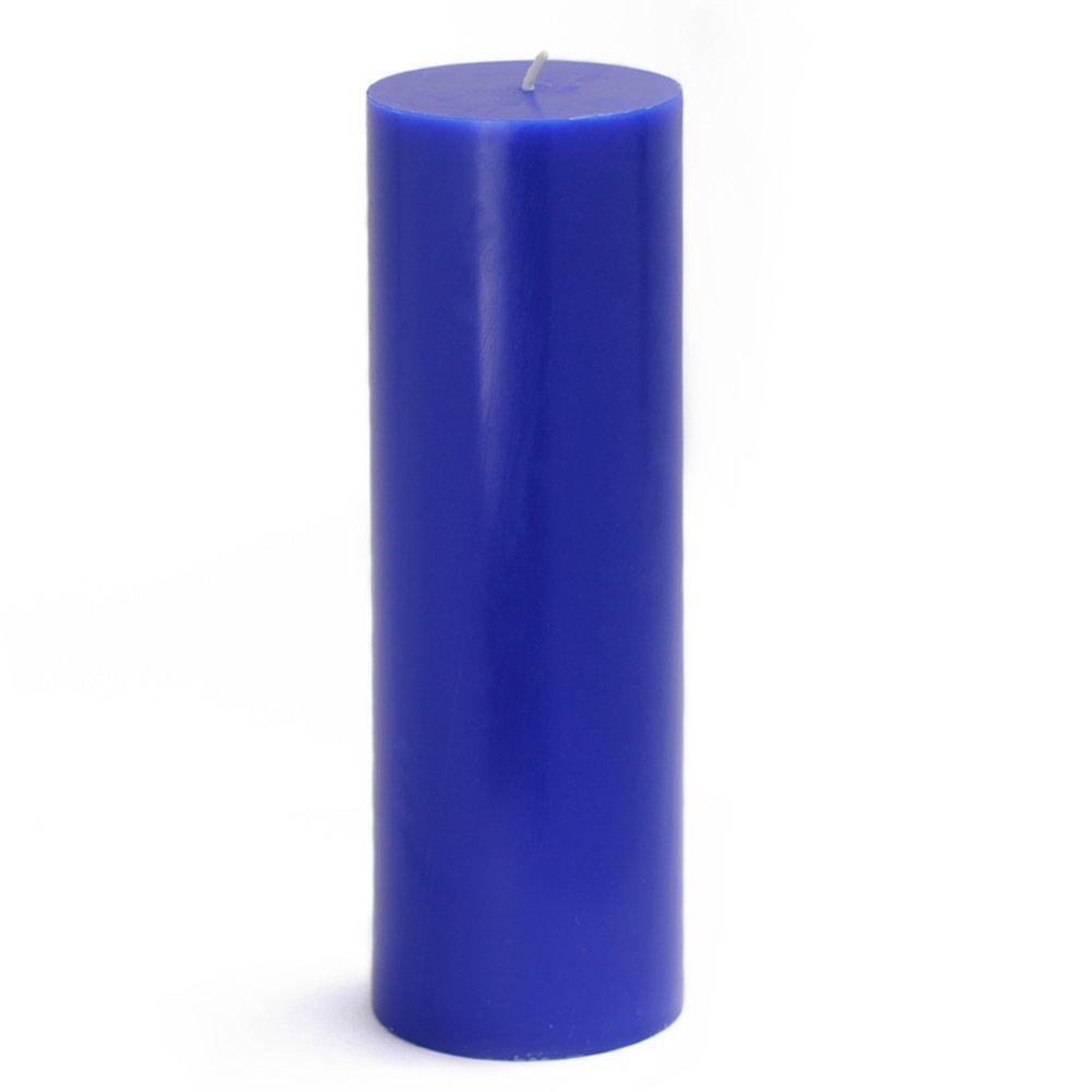 Zest Candle CPZ-099_12 12-Piece Pillar Candle, 3'' x 9'', Blue by Zest Candle (Image #1)
