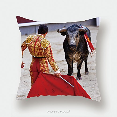 Custom Satin Pillowcase Protector Traditional Corrida Bullfighting In Spain Bulfighting Has Been Prohibited In Catalunia Since 155341151 Pillow Case Covers Decorative by chaoran