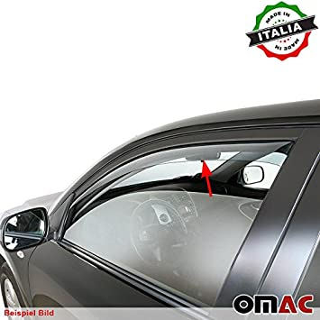 Omac GmbH Ford Transit Tourneo Custom Wind and Rain Deflector Front Set of 2 from 2013 onward