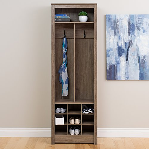 Prepac DSOH-0010-1 Entryway Organizer in Drifted Gray