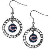NFL Minnesota Vikings Rhinestone Earrings