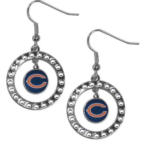 - NFL Chicago Bears Rhinestone Earrings