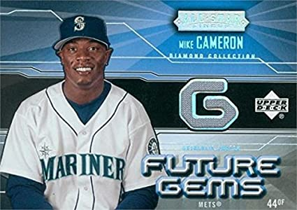 more photos f1e66 49e1b Mike Cameron player worn jersey patch baseball card (Seattle ...