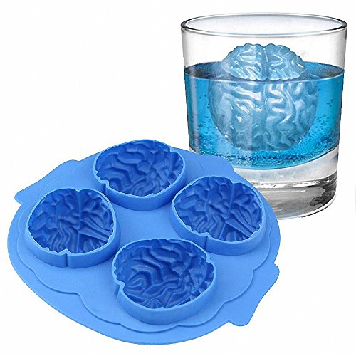 Halloween Brain Shape 3D Ice Silicone Mold Freeze Ice Cube Tray Cake Chocolate Soup Cream Mould Baking Decoration Tool -