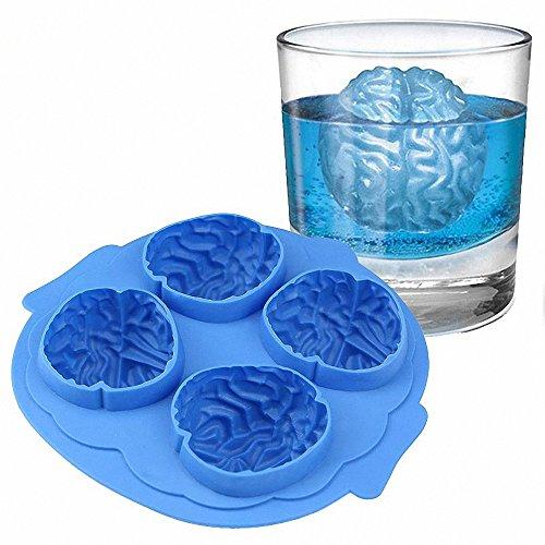 Halloween Brain Shape 3D Ice Silicone Mold Freeze