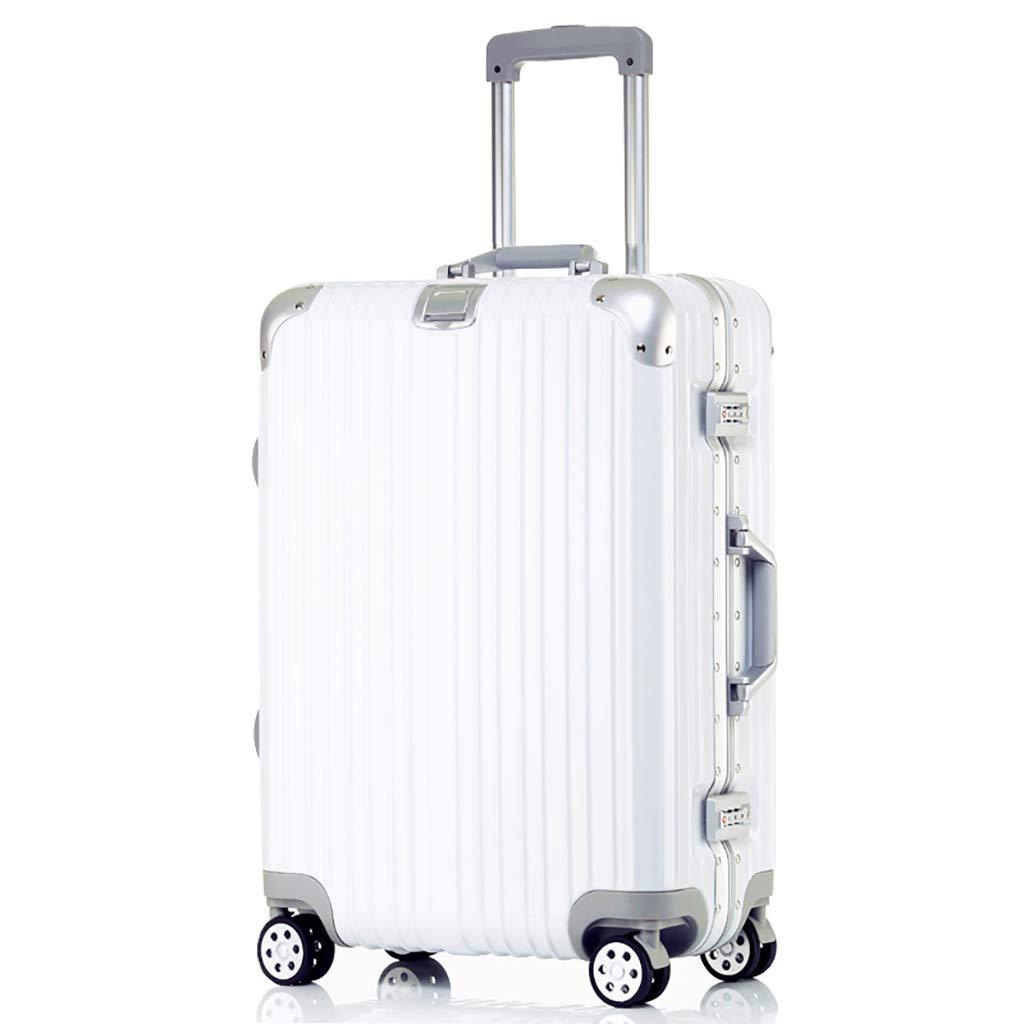 大型軽量荷物、ビジネスABSハードシェルスーツケース、4スピナーホイールトラベルトロリーバッグ、TSAロック付き、50 x 27 x 74 cm(29インチ、シルバー) 50x27x74cm white B07PQHFSJD