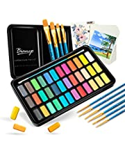 Bianyo Water Colors- Art Paint Set with Watercolor Paper, Travel Case