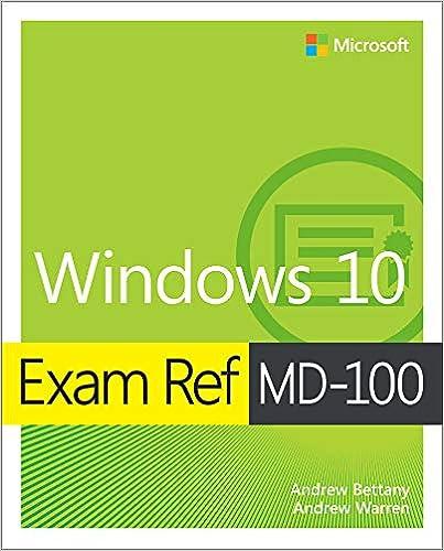 Amazon com: Exam Ref MD-100 Windows 10 eBook: Andrew Bettany