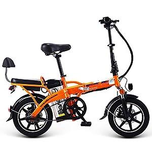 519AyqE1j%2BL. SS300 JXH 14 a Città del Pieghevole E-Bike Bici elettrica con Rimovibile Grande capacità agli ioni di Litio (48V 350W), per…