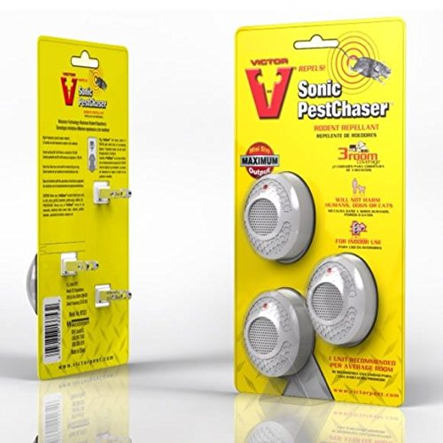 - Mini Pestchaser Ultrasonic Rodent Repellent (3-Pack)