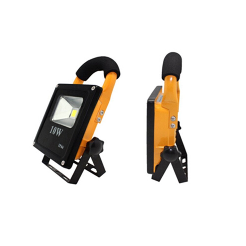 Longpro 10W Super Portable Floodlights LED Work Light Cordless Outdoor Camping Spotlights Searchlight Emergency light for Camping Hiking Fishing Built-in Rechargeable Lithium Batteries IP66 Waterproof