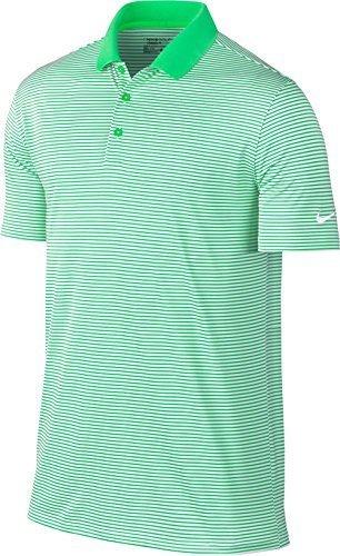 Nike Victory Mini Stripe Golf Polo 2017 Electro Green/White Small