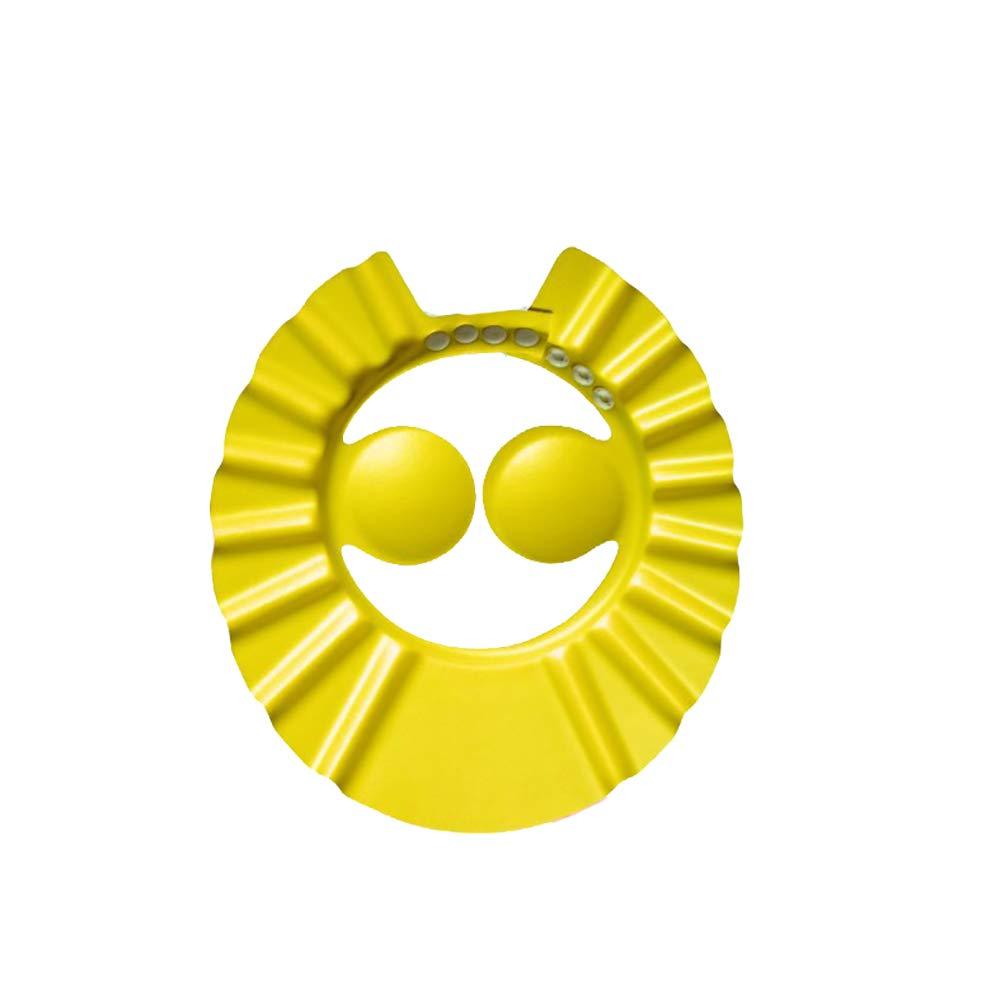 Lindo baño de ducha de champú seguro gorro o sombrero para que el bebé disfrute de tiempo de baño (amarilla) 1PC Beito