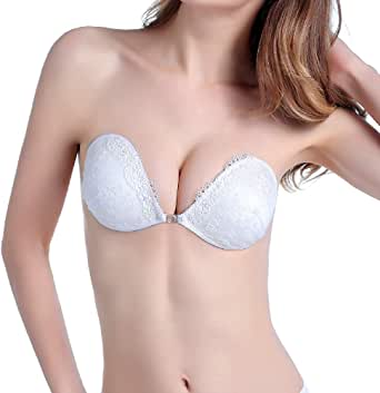 Flyrt Sticky Adhesive Bra Lace Strapless Backless Padded Push-up
