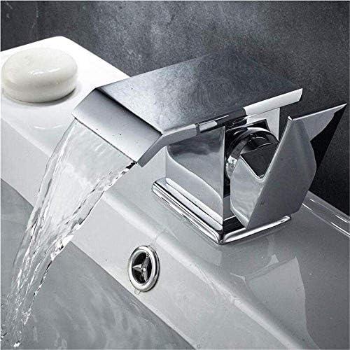 CLJ-LJ ホットとコールドシングルハンドルタップ浴室をフィッティングタップレトロキッチン温水や冷水360度回転浴室の洗面台の滝のミキサーのタップ真鍮