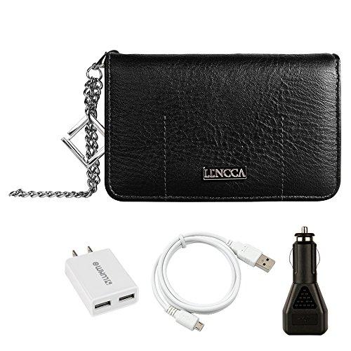 black-marine-lencca-wallet-case-leather-flip-slots-for-card-cash-with-zippered-back-pocket-ideal-for