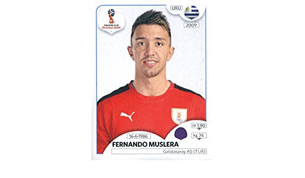 6055944b134 Amazon.com  2018 Panini World Cup Stickers Russia  94 Fernando Muslera  Uruguay Soccer Sticker  Collectibles   Fine Art