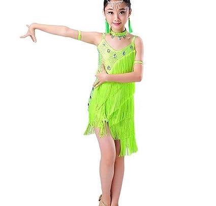 Vestido de Baile Latino para niñas Samba Vestidos para niños ...