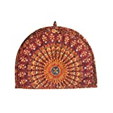 Sugun Printed Indian Royal Look Teapot Cosy Cover - Size 14x11 Inches
