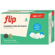 Flip Reusable Stay-Dry Inserts for Newborns from 6 to 12 Pounds - Pack of 6
