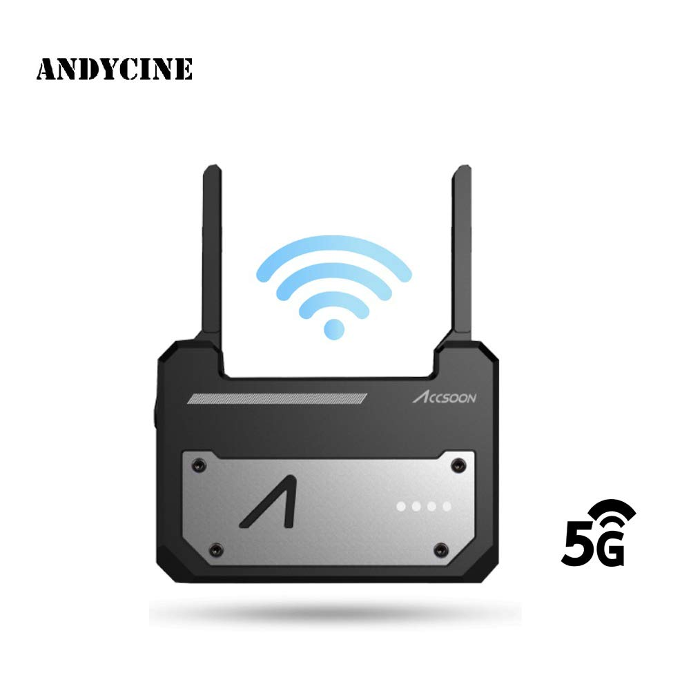 ANDYCINE Accsoon CineEye WiFi HDMI Transmitter 1080p 5G Wireless Video Image Transmission to 4 Devices Support Android, Grayscale, RGB, False Color, 3D LUT Loading by ANDYCINE