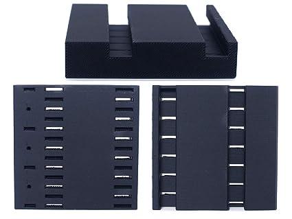 PRILINE Carbon Fiber PLA 1KG 1.75 3D Printer Filament, Dimensional Accuracy +/- 0.03 mm, 1kg Spool, 1.75 mm,Black