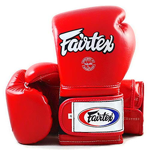 FAIRTEX BGV9 SPARRING BLACK RED MEXICAN STYLE KICK LEATHER MUAY THAI GLOVES