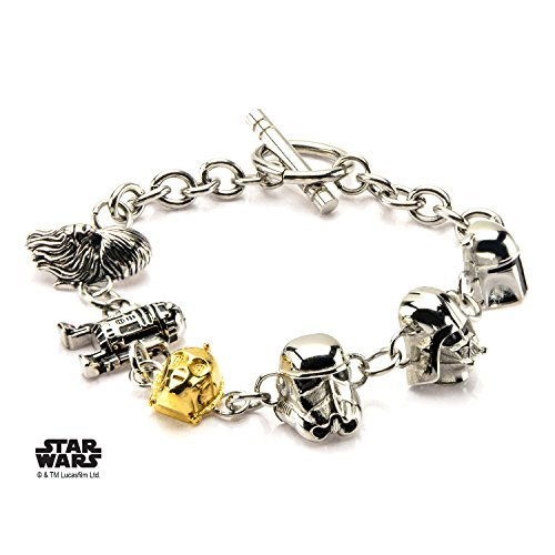 Star Wars 3D Characters Stainless Steel Bracelet w/Gift Box by Superheroes -