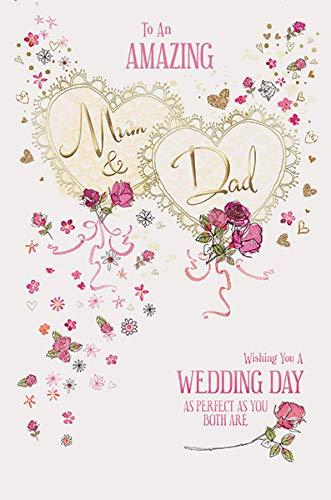 Tarjeta de felicitación para el día de la boda de mamá y ...