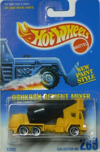 Hot Wheels Oshkosh Cement Mixer #269 with All Black Tank and 3 Spoke Razor Wheels (Oshkosh Cement Mixer)