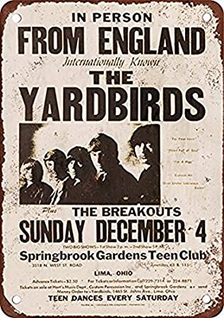 EpochSign The Yardbirds in Lima Ohio - Letrero (20,3 x 30,5 cm ...