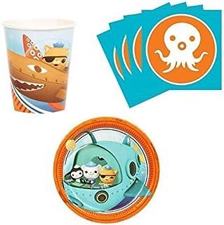 Octonauts Snack Pack Kit for 16  sc 1 st  Amazon.com & Amazon.com: The Octonauts Party Supplies - Dessert Plates (8): Toys ...