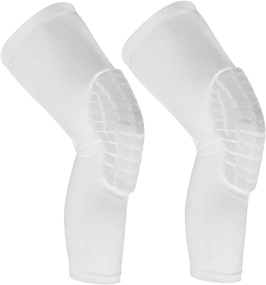 Cantop Knee Pads Long Compression Leg Sleeves Braces for Basketball Volleyball Football and All Contact Sports, Kids Youth Adult Girls Boys Women Men, Sold as 1 Pair (2pcs) : Sports & Outdoors