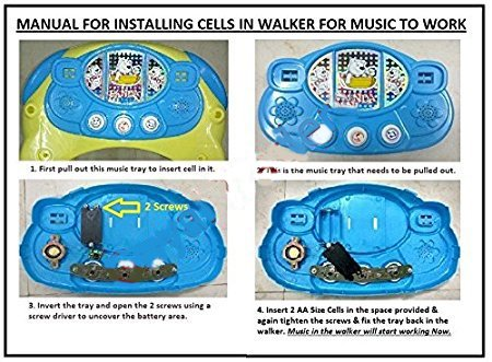 Adelee Odelle 2 in1 Musical Activity Rocker Walker for Kids (Green)