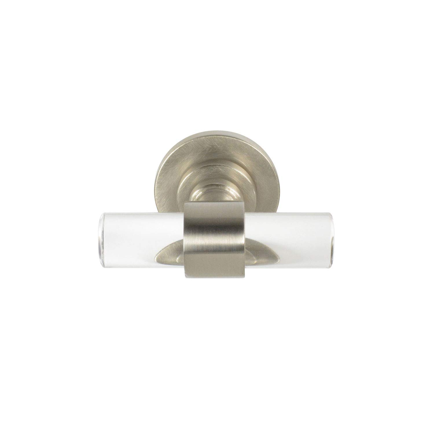 CKP Brand #750 Charlotte Collection T-Knob, Brushed Nickel/Clear - 10 Pack by CKP (Image #2)