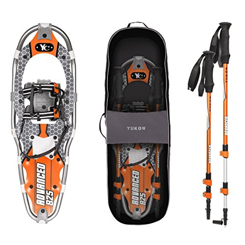 (Yukon Charlie's Advanced 8 x 25 in. Men's Snowshoe Kit w/ Poles & Bag | 80-3002K)