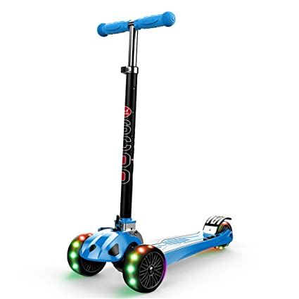 Patinetes Scooter Deportivo para Niños, Scooter De 3 Ruedas Azul para Niños Pequeños, Kick