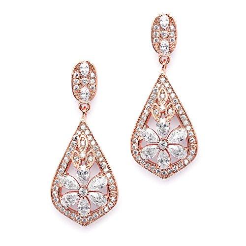 Vintage Rose Pierced Earrings - 3