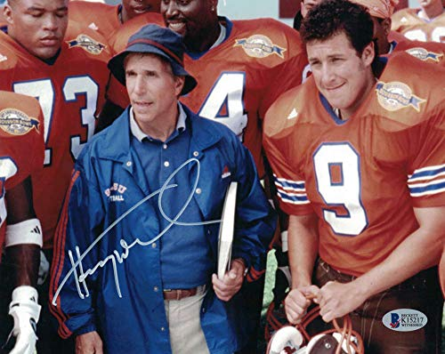 (Henry Winkler Autographed/Signed Waterboy 8x10 Photo Coach Klein BAS)