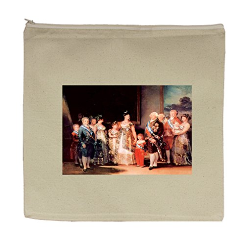 Charles Iv Of Spain & His Family (Goya) Canvas Zipper Tote Bag Makeup Bag by Style in Print