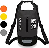 VIPFAN Dry Bag, Waterproof 5L/10L/20L/30L Overboard Backpack Bag with Waist Strap for Beach Swim Kayaking Hiking - Protect IPhone Camera Cash Document From Water and Dirt