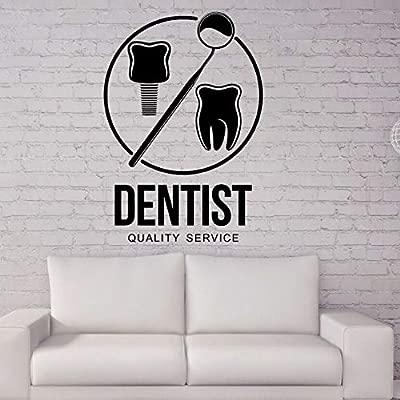 Vinilo Pegatinas de pared Tienda de dientes Etiqueta de la ...